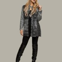 Multi-fabri gray jacket